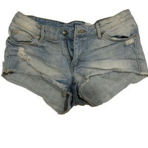 Divided H&M ripped light denim shorts